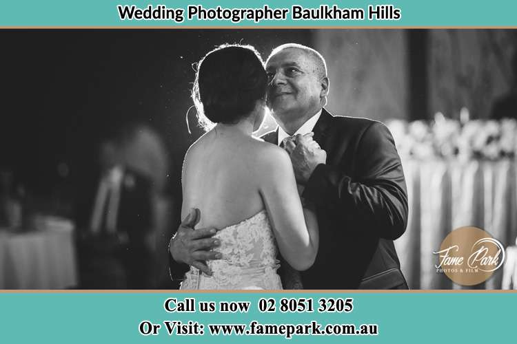 Photo of the Bride dancing with her father Baulkham Hills NSW 2153