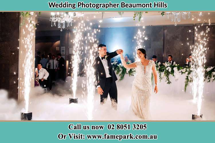 Photo of the Groom and the Bride dancing Beaumont Hills NSW 2155