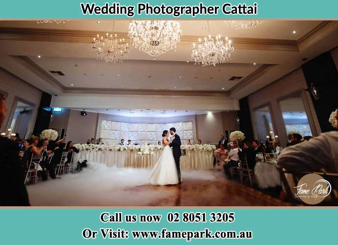 Photo of the Bride and the Groom dancing on the dance floor Cattai NSW 2756
