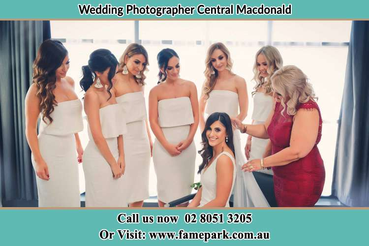 Photo of the Bride and the secondary sponsors Central Macdonald NSW 2775