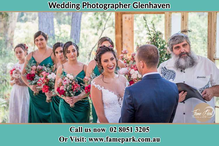 Photo of the Bride and the Groom at the matrimony Glenhaven NSW 2156
