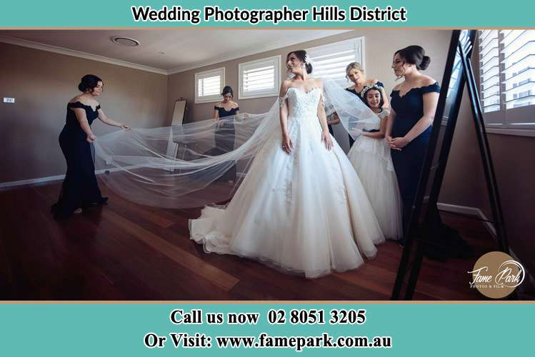 Photo of the Bride in Gown preparation Hills District