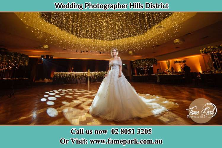 Photo of the Bride at the dancing floor Hills District