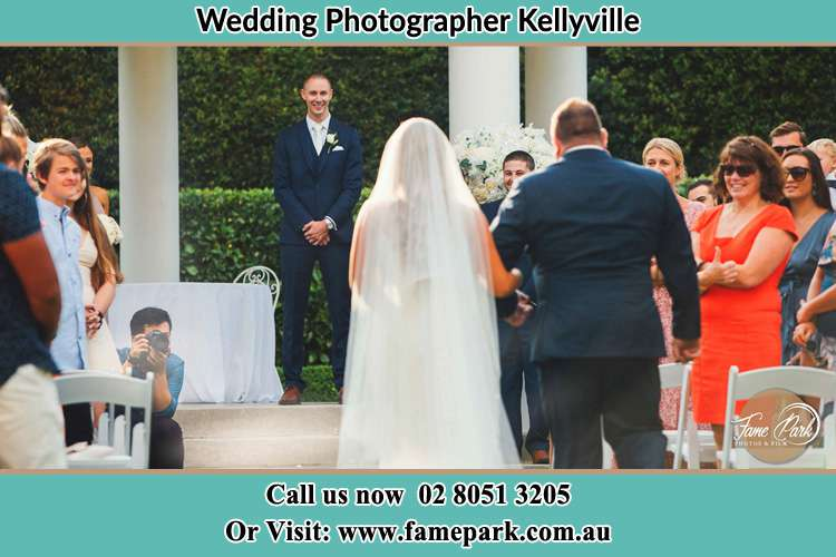 Photo of the Bride and her father walking the aisle Kellyville NSW 2155