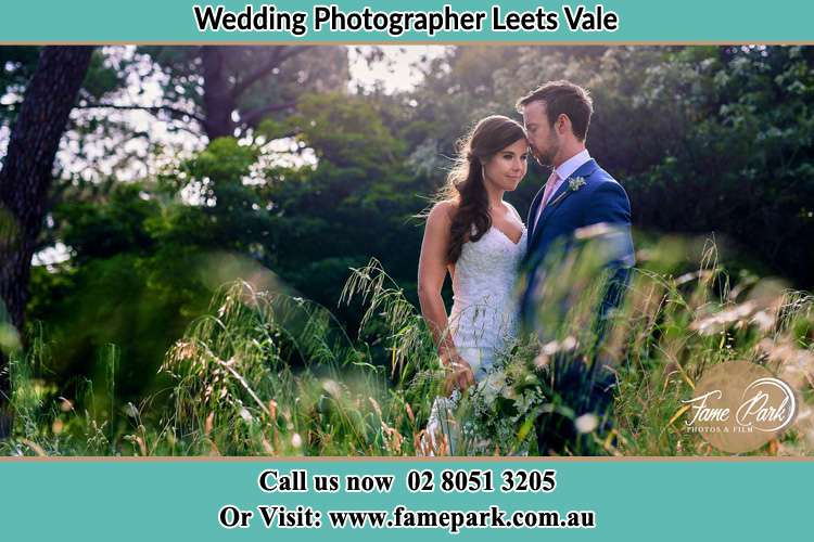 Photo of the Bride and the Groom at the yard Leets Vale NSW 2775