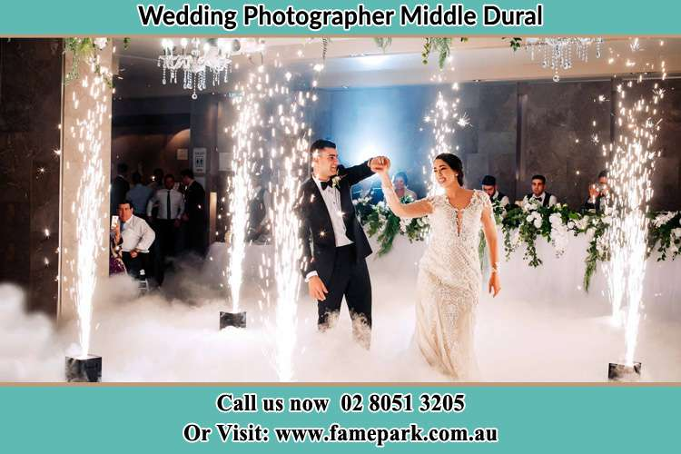 Photo of the Groom and the Bride dancing at the dance floor Middle Dural NSW 2158