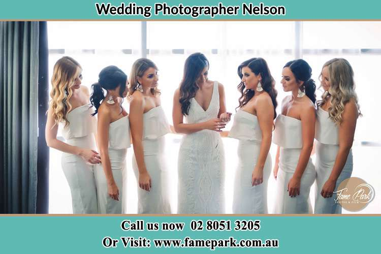 Photo of the Bride and the bridesmaids Nelson NSW 2765