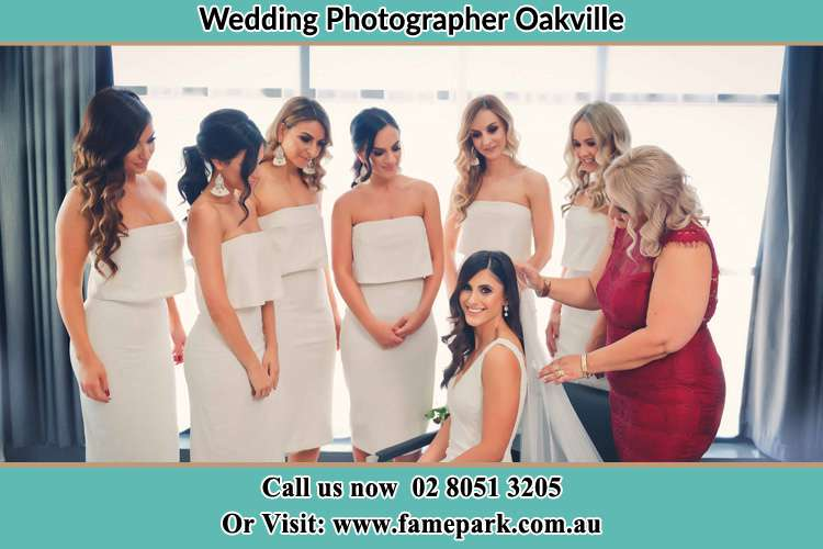 Photo of the Bride and her secondary sponsors Oakville NSW 2765