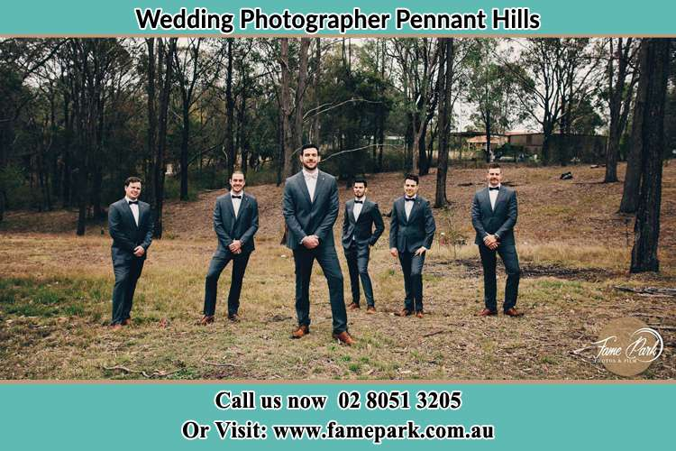 Photo of the Groom and the groomsmen Pennant Hills NSW 2120