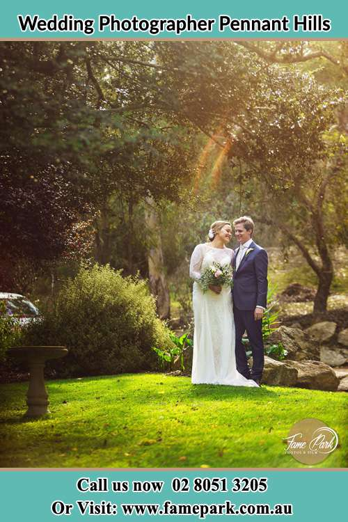 Photo of the Bride and the Groom at the garden Pennant Hills NSW 2120