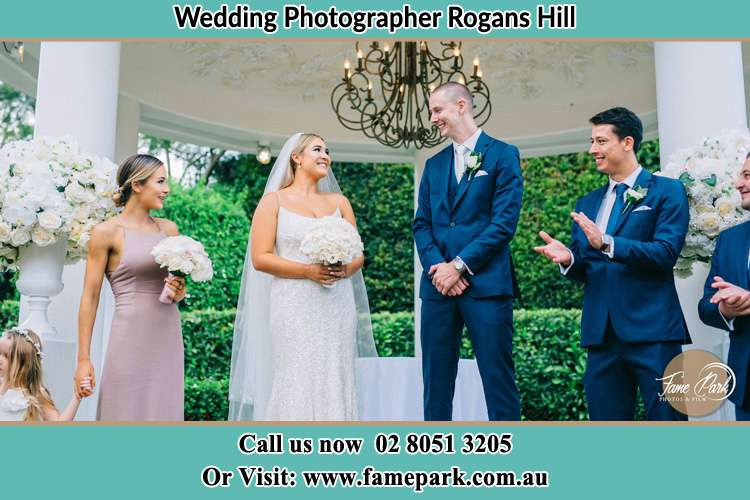 Photo of the Bride and the Groom happily looking each other Rogans Hill NSW 2154