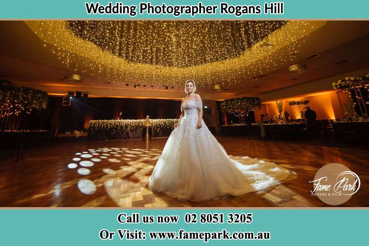 Photo of the Bride at the dance floor Rogans Hill NSW 2154