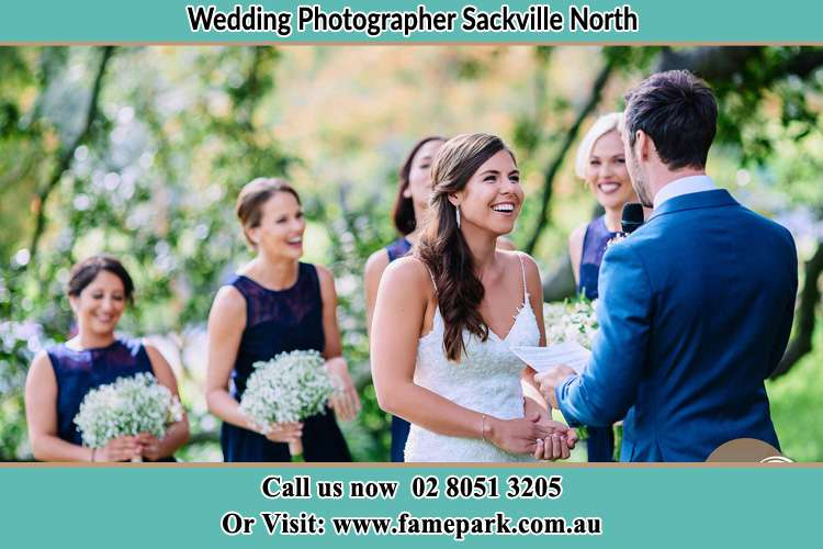 Photo of the Groom testifying love to the Bride Sackville North NSW 2756