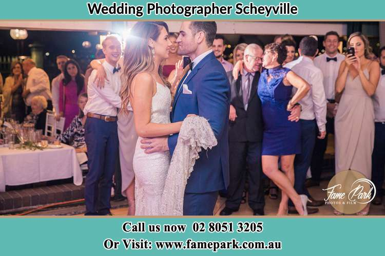 Photo of the Bride and the Groom dancing Scheyville NSW 2756