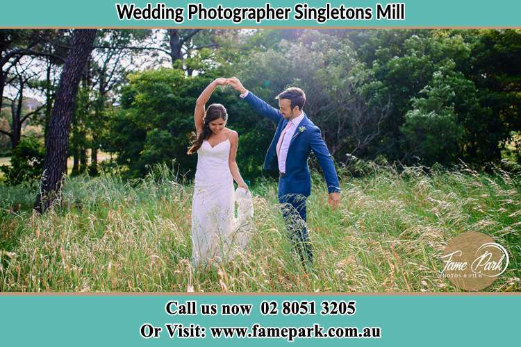 Photo of the Bride and the Groom dancing Singletons Mill NSW 2775
