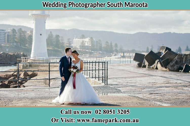 Photo of the Bride and Groom at the Watch Tower South Maroota NSW 2756