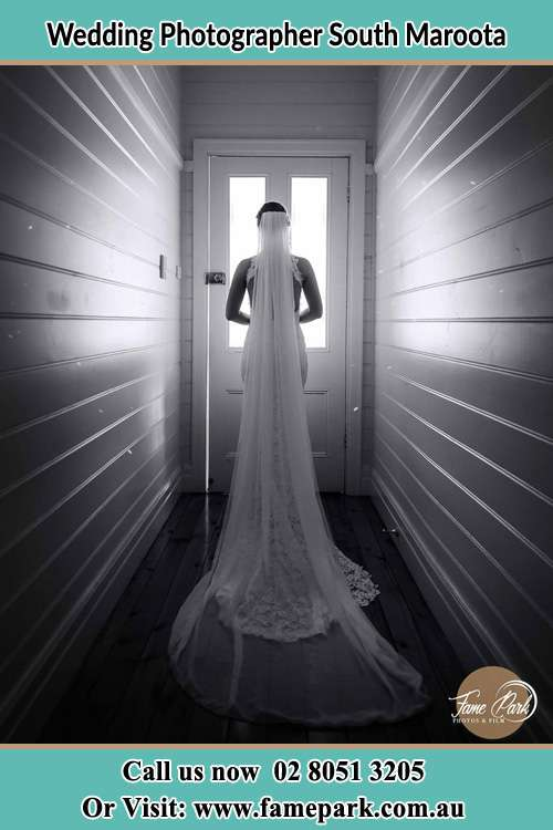 Photo of the Bride going out the door South Maroota NSW 2756