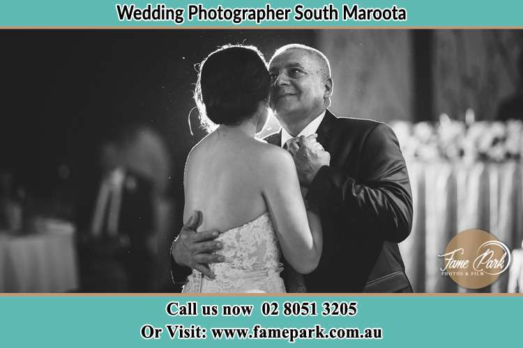Photo of the Bride dancing with her father South Maroota NSW 2756