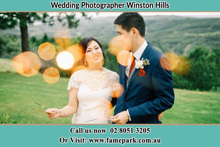 Photo of the Bride and the Groom at the yard Winston Hills NSW 2153