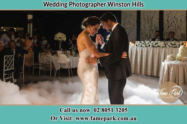 Photo of the Bride and the Groom dancing Winston Hills NSW 2153