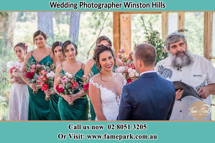 Photo of the Bride and the Groom at the matrimony Winston Hills NSW 2153